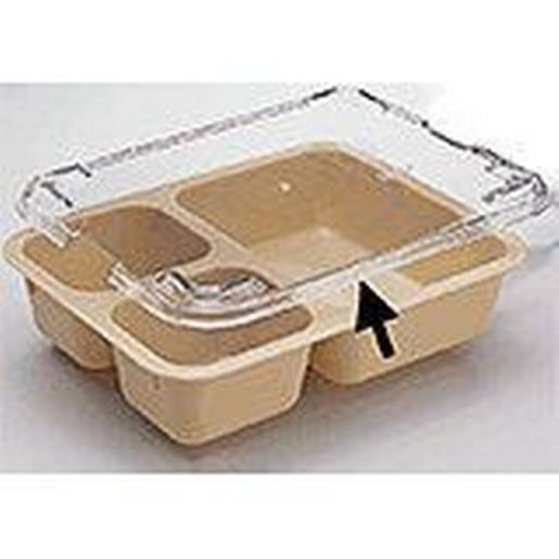 4-Compartment Tray Co-Polymer Translucent Lid ONLY [Great for Take Out and Carry Out]