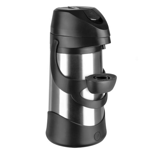 1.9 Liter Airpot Beverage Server - Black [Great for Take Out and Carry Out]